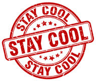 Stay cool red stamp. Stay cool red grunge stamp Royalty Free Stock Photos