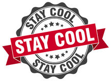 Stay cool stamp Royalty Free Stock Images