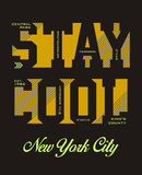 Stay cool, vector. Stay cool, t-shirt graphic, vector image Stock Photography