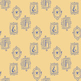 Stay Fancy illustrations, seamless  patterns Stock Images