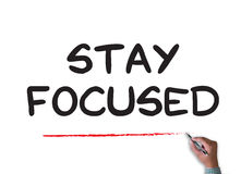 Stay Focused Stock Images