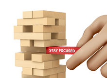 STAY FOCUSED Royalty Free Stock Photography