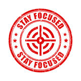 Stay focused rubber stamp Royalty Free Stock Photos