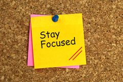 Free Stay Focused Sticky Stock Images - 148814514