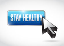 stay healthy button illustration design Stock Photography
