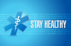 stay healthy medial sign illustration design Stock Images