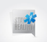 stay healthy medical message illustration design Stock Photos