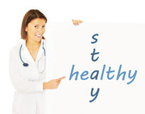 Stay healthy! Royalty Free Stock Photos