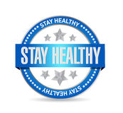 Stay healthy seal illustration design Stock Photo
