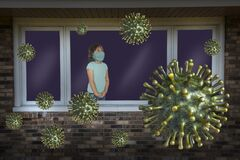 Free Stay Home, Coronavirus, COVID-19, Mask, Young Girl Stock Photography - 177990382