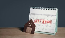 Free Stay Home Plan Stock Photo - 176630960