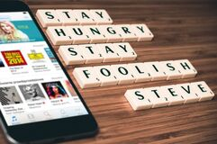 Stay hungry stay foolish Stock Photo