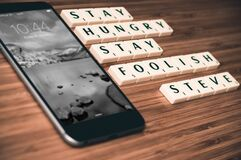 Stay Hungry Stay foolish Stock Photos