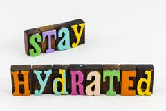 Free Stay Hydrated Drink Water Fluids Healthy Hydration Fitness Royalty Free Stock Images - 171805609