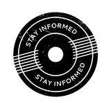 Stay Informed rubber stamp Stock Photo