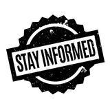 Stay Informed rubber stamp Stock Images