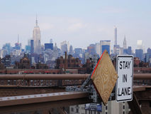 Stay in lane, New York Stock Photo
