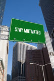 Stay motivated against new york Stock Photos