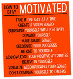 Stay motivated. Motivating yourself in life and career Royalty Free Stock Image