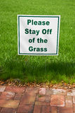 Stay off the grass Stock Images