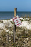 Stay out of dunes sign Royalty Free Stock Photo