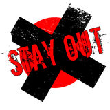 Stay Out rubber stamp. Grunge design with dust scratches. Effects can be easily removed for a clean, crisp look. Color is easily changed Stock Photography