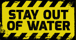 Stay out of water sign Stock Images