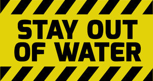 Stay out of water sign Stock Photography