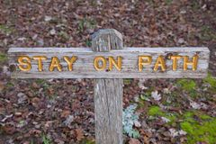 Stay on path Stock Photos