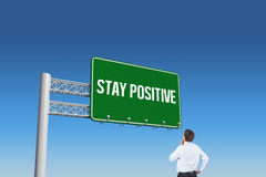 Stay positive against blue sky Stock Images