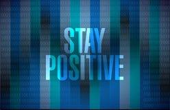 Stay positive binary sign illustration design Stock Photo
