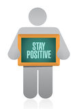 stay positive board sign illustration design Stock Photo