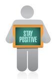 Stay positive board sign illustration design Stock Photo