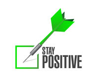 Stay positive check dart sign illustration design Royalty Free Stock Photo