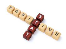 Stay Positive crosswords Royalty Free Stock Photo