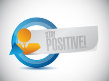 Stay positive cycle sign illustration design Stock Images
