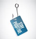 Stay positive hook sign illustration design Stock Image
