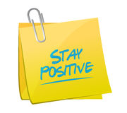 Stay positive memo sign illustration design Royalty Free Stock Images