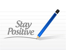 Stay positive message sign illustration Stock Image