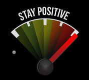 stay positive meter sign illustration design Royalty Free Stock Photo
