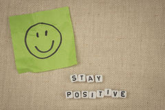 Stay positive Stock Photography