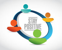 Stay positive people network sign illustration Royalty Free Stock Photography
