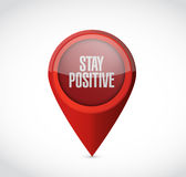 Stay positive pointer sign illustration design Royalty Free Stock Image