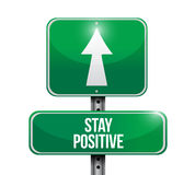 Stay positive road sign illustration design Royalty Free Stock Photos