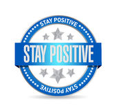 stay positive seal sign illustration design Stock Photo