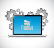 Stay positive tech computer sign illustration Royalty Free Stock Photo