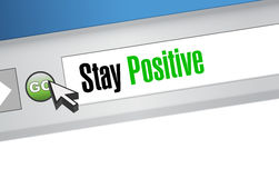 Stay positive web browser sign illustration Royalty Free Stock Photos