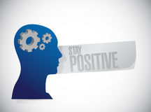 Stay positive working brain sign Stock Photo
