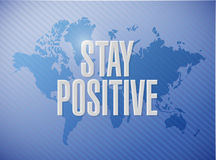 Stay positive world sign illustration design Stock Images