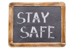 Stay safe framed Royalty Free Stock Images